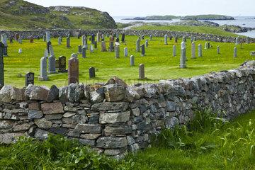 Cemetery - Lewis island Outer Hebrides Scotland UK