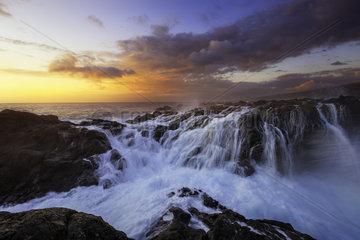 La Pointe au sel at sunset  Saint-Leu  Reunion Island