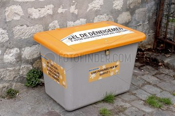 Salt box in Montmartre in Norvin street  Paris  France
