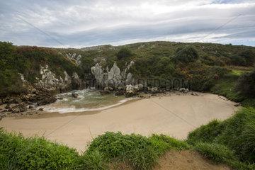 Gulpiyuri beach. Llanes-Asturias (Spain)