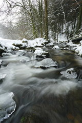 Thaw on the torrent  Geroldsauer  Black Forest  Germany