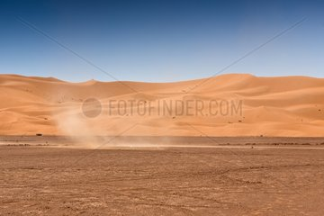Tornado of sand in the desert - Morocco
