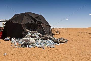 Trash in the desert for a music festival - Morocco