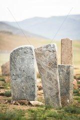 Deer stones  Ulaan Uushig site - Mongolia