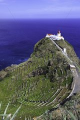 Gonçalo Velho lighthouse  Ponta do Castelo  Eastern Santa Maria Island  Azores  Portugal  Atlantic Ocean