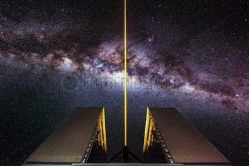 Star Wars - Laser fired by the UT4 tower at the ESO?s observatory of Paranal