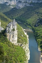 Cathedrale of Ardèche gorges France