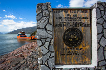 Mitchell Fjord ferry crossing - Patagonia Chile