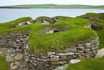 Neolithic village of Skara Brae - Scotland Orkney Mainland