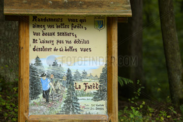Panel 'Hikers do not leave your rubbish' - France