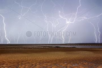 Storms on the Atlantic coast - Bay Bonne Anse France