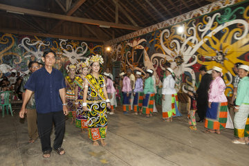 Traditional ceremony in Batu Majang Long House - Indonesia