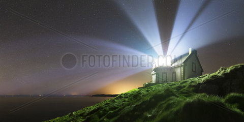 Beams of the house-headlight Miellier - Brittany France