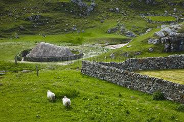 Iron Age village - Lewis island Outer Hebrides Scotland UK