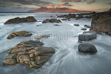 Laig Beach on the island of Eigg - Small isles Hebrides