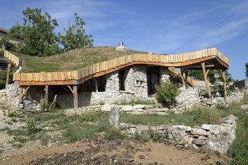 Plant roof cottage on the Causse Mejean - Lozère - Cevennes National Park - France