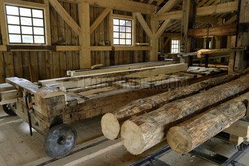 Sawmill high iron-of Hallière - Vosges France