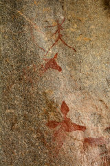 San rock paintings - Cave Nswatugi Matobos Zimbabwe