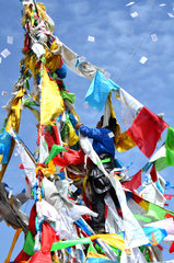 Prayer flags at the Lapste - Tibet China