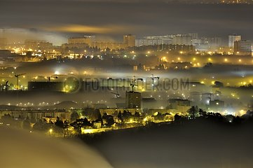 Light pollution and haze on thenorth outskirts of Lyon