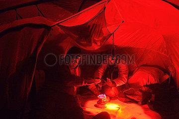 Atmosphere under the tent - Agardbukta Spitzberg