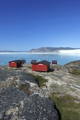 Denmark. Greenland. West coast. Hotel at Port Victor  the camp of Paul-EMile Victor  chef of the French polar expeditions which studied the Greenland ice cap from 1948 and 1953.