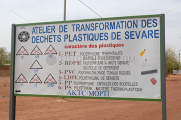 Plastic recycling workshop - Mopti Mali