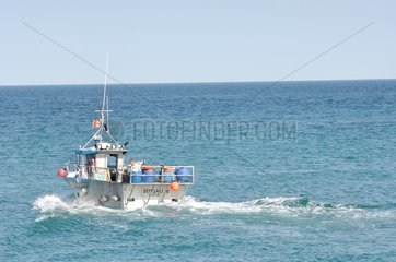 Fishing boat on the Manche Barfleur France