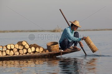 The Intha fisherman on Inle Lake