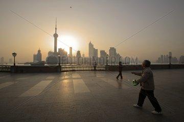 Urban pollution  Shanghai  China  2007