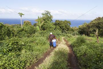 Girl on the way to school - Tanna Island Vanuatu