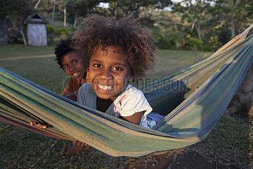 Girl in a hammock - Tanna Island Vanuatu