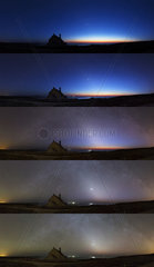 Zodiacal light at Pointe du Van - Brittany France