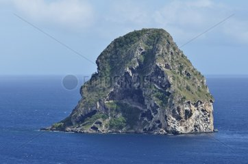 Diamond Rock from Point Diamond ; basaltic island 175 meters high  Pointe du Diamant  Martinique  France