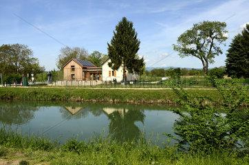 lock keeper house Canal de Huningue - Alsace France