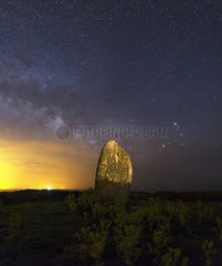 Milky Way and Megalith - Isle of H?dic Brittany France