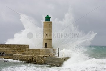 Lighthouse of Cassis in the storm France
