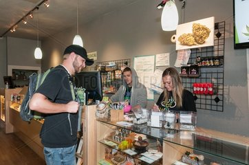 Selling medical and recreational marijuana at dispensary. Denver  CO