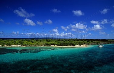 Petite terre island surrounded by a lagoon in Guadeloupe