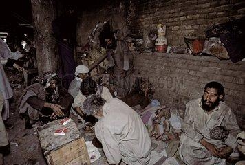 Heroin addicts living on streets Quetta Pakistan