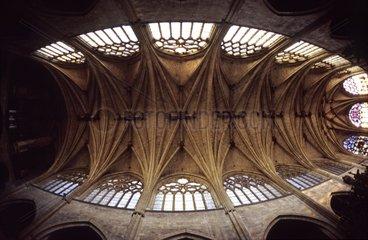 Vue zénithale de la nef de l'ex-cathédrale de Condom Gers