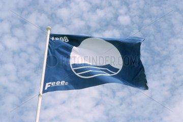 Pavillon bleu - Blue Flag in the sky France