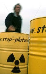 Antinuclear demonstration in Cherbourg France