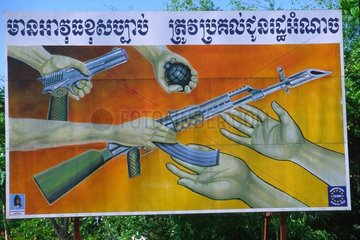 Panel of propaganda for disarmament Kampuchea