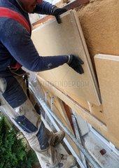 Fibreboard of wood exterior rigid insulation