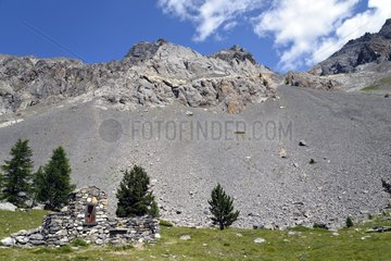 The oratory at the end of Val d'Escreins - Queyras Alps France