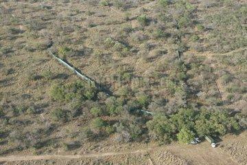 Air shot of a capture barrier South Africa