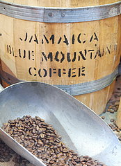 Coffee beans  Jamaica origin  Blue Mountain  one of the best and most expensive arabicas