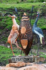 Ugandese cob an dthe crane are the two symbols of Ouganda