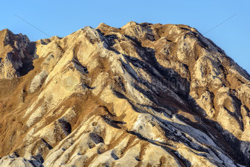 Gypsum outcrop  Les Etovieres  north of the Grand Perron des Encombres  Maurienne  Vanoise  Alps  France